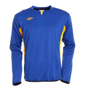 UMBRO Vision Tr Sweat jr Blå/Gul 152 Teknisk treningsgenser for barn